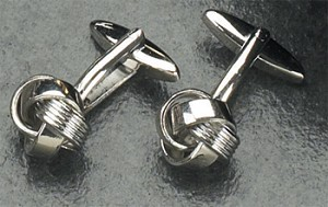 Rodium Plated Cufflinks with Knots T.P.