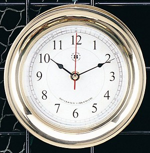 Brass Interchangeable Quartz Clock with Rose Dial Face T.P.