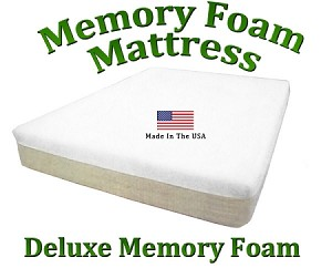 "Deluxe Twin Memory Foam Mattress Memory Foam 10"" Total Thickness"