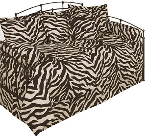 Zebra Brown Daybed Cover Set