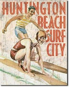 Huntington Beach Surf City Tin Sign