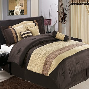 Sonata Coffee 7 Piece Comforter Set