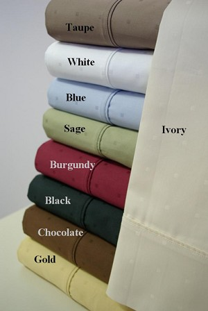 California King Size 300 Thread Count Egyptian Cotton Dot Sheets