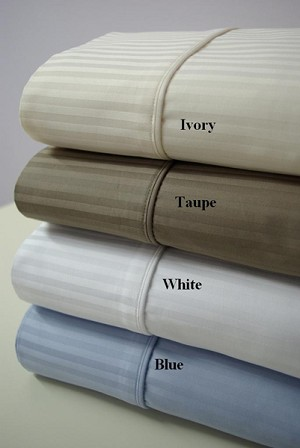 California King Size 1000 Thread Count Stripe Egyptian Cotton Sheets