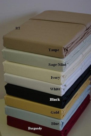 California King Size 600 Thread Count Egyptian Cotton Sheets Solid Color