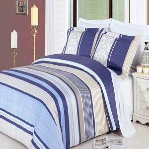 Park Ave Full/Queen 4 Piece 300 Thread Count Egyptian Cotton Comforter Set
