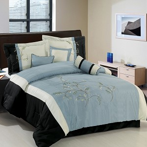 Santa Fe Gray 7 Piece Comforter Set