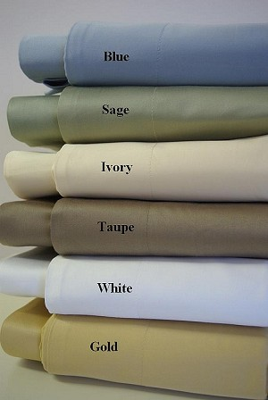 2 Piece Twin Solid 450 Thread Count Egyptian Cotton Duvet Cover Set