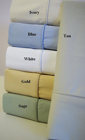 King Waterbed Size Unattached 400 Thread Count Bamboo Egyptian Cotton Sheets Solid