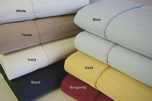 King Waterbed Size Unattached 600 Thread Count Egyptian Cotton Sheets Pin Stripe