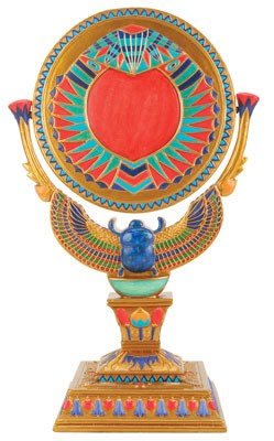 Winged Scarab Mirror