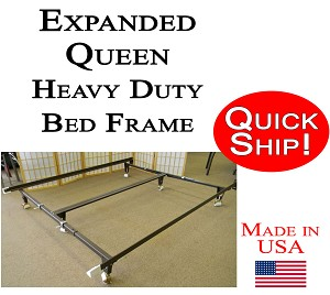 Expanded Queen Bed Frame Heavy Duty With Bolt On Head Board Brackets