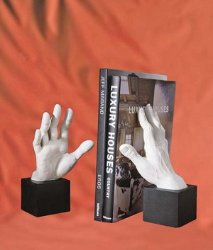 Grasping Hands Bookend Set