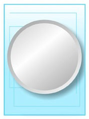 Round Frameless Mirror 24""