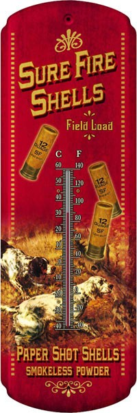 Sure Fire Shells Decorative Outdoor Thermometer