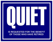 Quiet Metal Sign