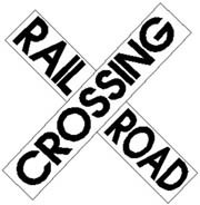 Train Crossing Sign Cross-Buck Railroad Sign Large