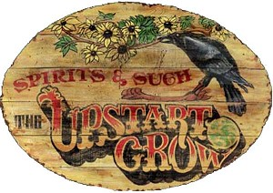 The Upstart Crow Tavern Antiqued Wood Sign