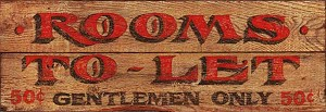 Antiqued Wood Sign