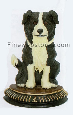 Border Collie Cast Iron Door Stop