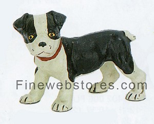 Boston Terrier Pup Cast Iron Door Stop
