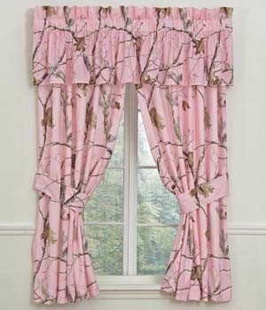 AP Pink Camouflage Designer Window Curtains