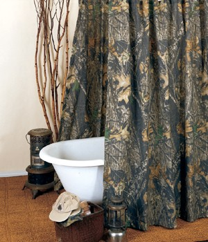 New Break Up Camouflage Shower Curtain Set