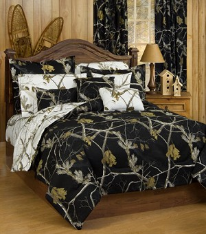 AP Black and White Camouflage Comforter and Bedding