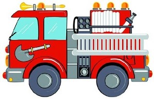Fire Engine Rug 31 in. x 47 in.
