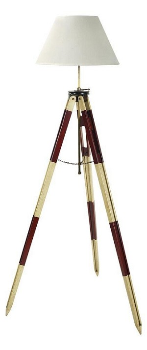 Surveyor's Tripod Red and White Floor Lamp Nautical Lighting