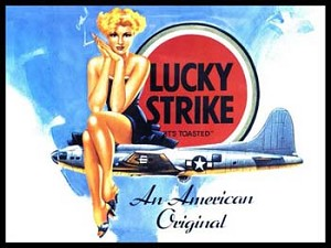 Lucky Strike An American Original Aircraft Vintage Tin Sign