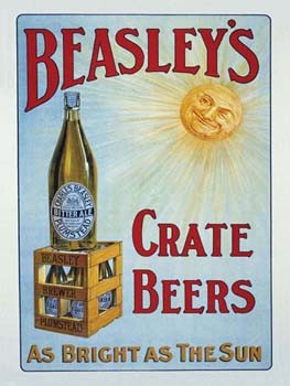 Beasley's Crate Beers Tin Sign