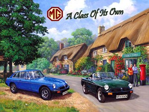 MG - A Class of Its Own Vintage Metal Sign