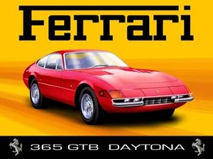 Ferrari 365 GTB Daytona Vintage Tin Sign