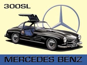 Mercedes Benz 300SL Vintage Tin Sign