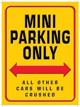 Mini Parking Only Vintage Tin Sign
