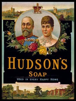 Hudson's Soap Vintage Tin Sign
