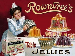 Rowntree's Table Jellies Vintage Tin Sign