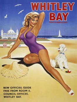 Whitley Bay Beach Vintage Tin Sign
