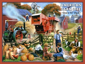 American Farm Life Vintage Metal Sign
