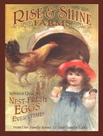 Rise & Shine Farms Vintage Tin Sign