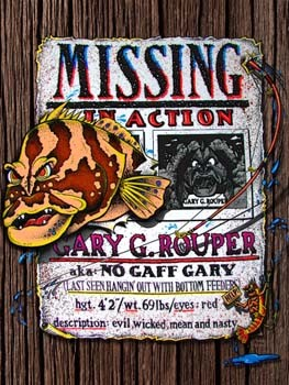 Missing in Action Gary G Rouper Tin Sign