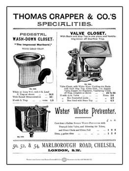 Thomas Crapper and Company Specialties Vintage Tin Sign