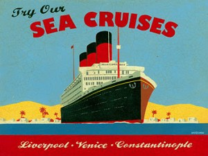 Try Our Sea Cruises Vintage Metal Sign