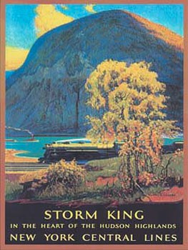 New York Central Storm King Metal Sign