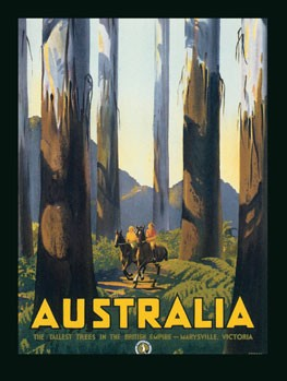 Australia Wooded Outdoor Vintage Tin Sign