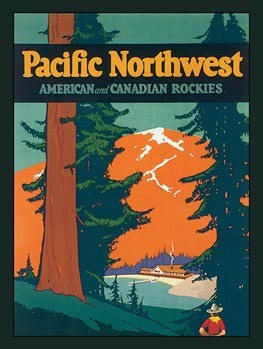 Pacific Northwest Vintage Tin Sign
