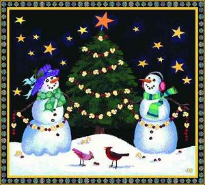 Holiday Snowmen Tapestry