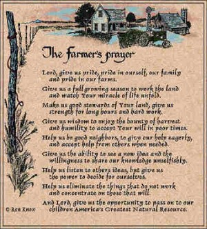Farmers Prayer Ron Knox 169 Tapestry