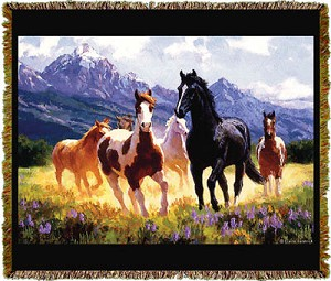 Horse Summer Days Tapestry
